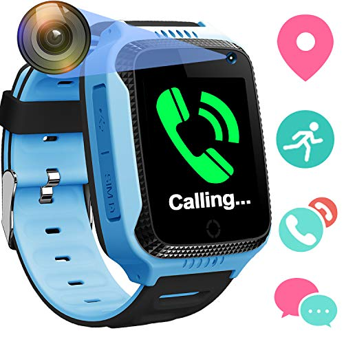 Smart Watch for Girls Boys - GPS Locator Pedometer Fitness Tracker Touch Camera Games Light Touch Anti Lost Alarm Clock...