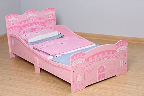 Rosa cama princesa Mcc/® Cama del ni/ñito de los ni/ños en forma de castillo