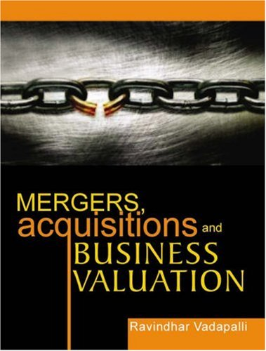 Read Online Mergers, Acquisitions and Business Valuation PDF