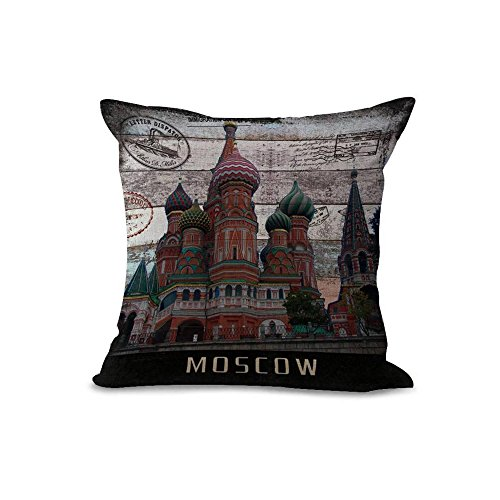 Moscow 20x20in Pillow Case Cover Home Decor Square Pillow Sham Twin Sides Printing Pillow Protector Christmas Gift (Moscow) (Dollar General Halloween 2017)