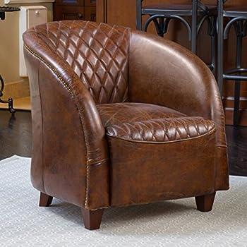 Amazon Com Pasargad Paris Club Chair Genuine Top Grain