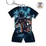 Zinc Alloy Car Key Buckle,Print Space Man,Best Gift For Boys Girls