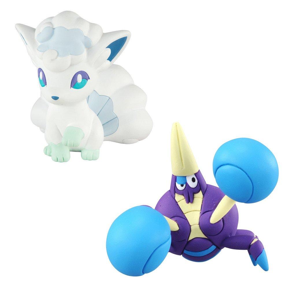 Pokémon T19035Alolan Vulpix VS Crabrawler figure POKEMON
