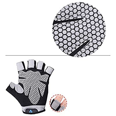 Jinjin Men Women Yoga Fitness Gloves Weight-Lifting Workout Crossfit Gloves Rowing, Power-Lifting, Pull Up Callus-Guard Gym Barehand Grip Gloves for Spring Short Bike Ride: Baby