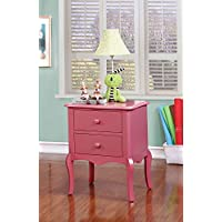 Furniture of America CM-AC325PK Lexie Pink Nightstand
