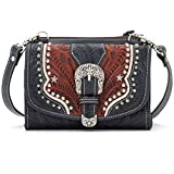 American West Women's Texas Two-Step Mini Crossbody Bag Red One Size