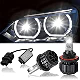 H13 LED Headlights Bulb, YINTATECH Car Auto LED Headlight Bulbs All-in-One Conversion Kit 7200Lm 80W 6000K Extremely Super Bright White 2 Year Warranty, 2 Pack