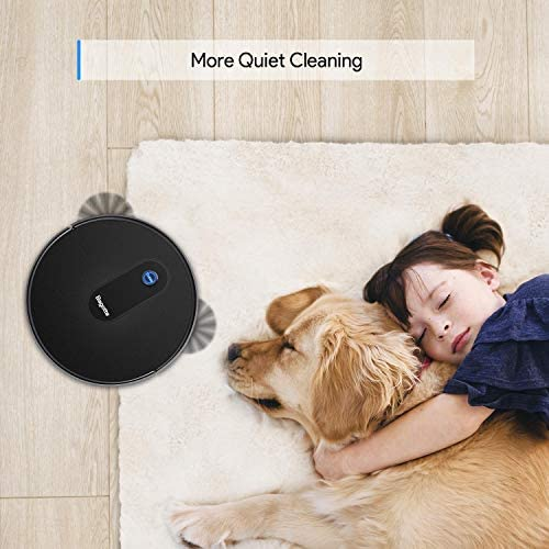 "Robot Vacuum, Max Suction Robotic Vacuum Cleaners, 2.7"" Super Thin & Powerful battery lifestyles With Large Dust Bin, Daily Schedule, Self-Charging Vacuums, Ideal for Pet Hair, Carpet, Hardwood Floors"