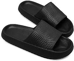 JIASUQI Slippers for Women Men Shower Quick Drying Bathroom Sandals Open Toe Soft Non-Slip Massage Pool Gym House Slipper...