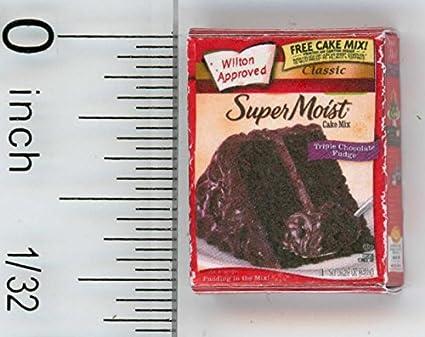 DOLLHOUSE 1:12 Scale Miniature Chocolate Cake Mix Box