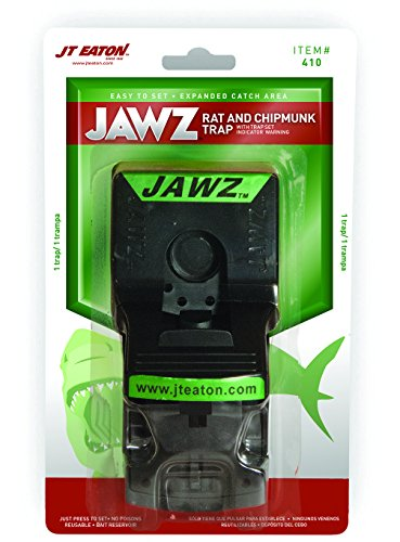 JT Eaton 410 Jawz Plastic Rat and Chipmunk Trap with High Tension Spring for Solid or Liquid Bait