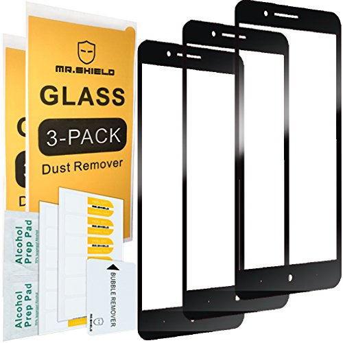 Price comparison product image [3-PACK]-Mr Shield For ZTE Blade Z Max [Japan Tempered Glass] [9H Hardness] [Full Cover] Screen Protector with Lifetime Replacement Warranty
