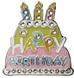 Navika Birthday Cake Swarovski Crystal Ball Marker with Hat Clip