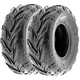 SunF 16x7-8 16x7x8 ATV UTV A/T Sport Trail Replacement 6 PR Tubeless Tires A004, [Set of 2]