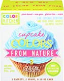 All Natural Cupcake Icing Coloring Set (PINK, YELLOW, and BLUE) from Color Kitchen. Totally Plant Based, Vegan, Non-GMO, Vibrant Color For Decorating Desserts.