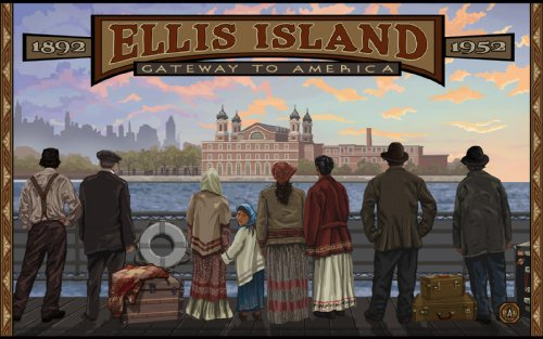Northwest Art Mall Ellis Island Coming to America New York Wall Art by Paul A Lanquist, 11 by - York The Mall New