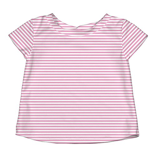 i play. Girls Cap Sleeve Rashguard Shirt