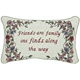 Manual 12.5 x 8.5-Inch Decorative Throw Pillow, Friends Are Family