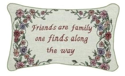 Manual 12.5 x 8.5-Inch Decorative Throw Pillow, Friends Are Family (Friend Pillow)