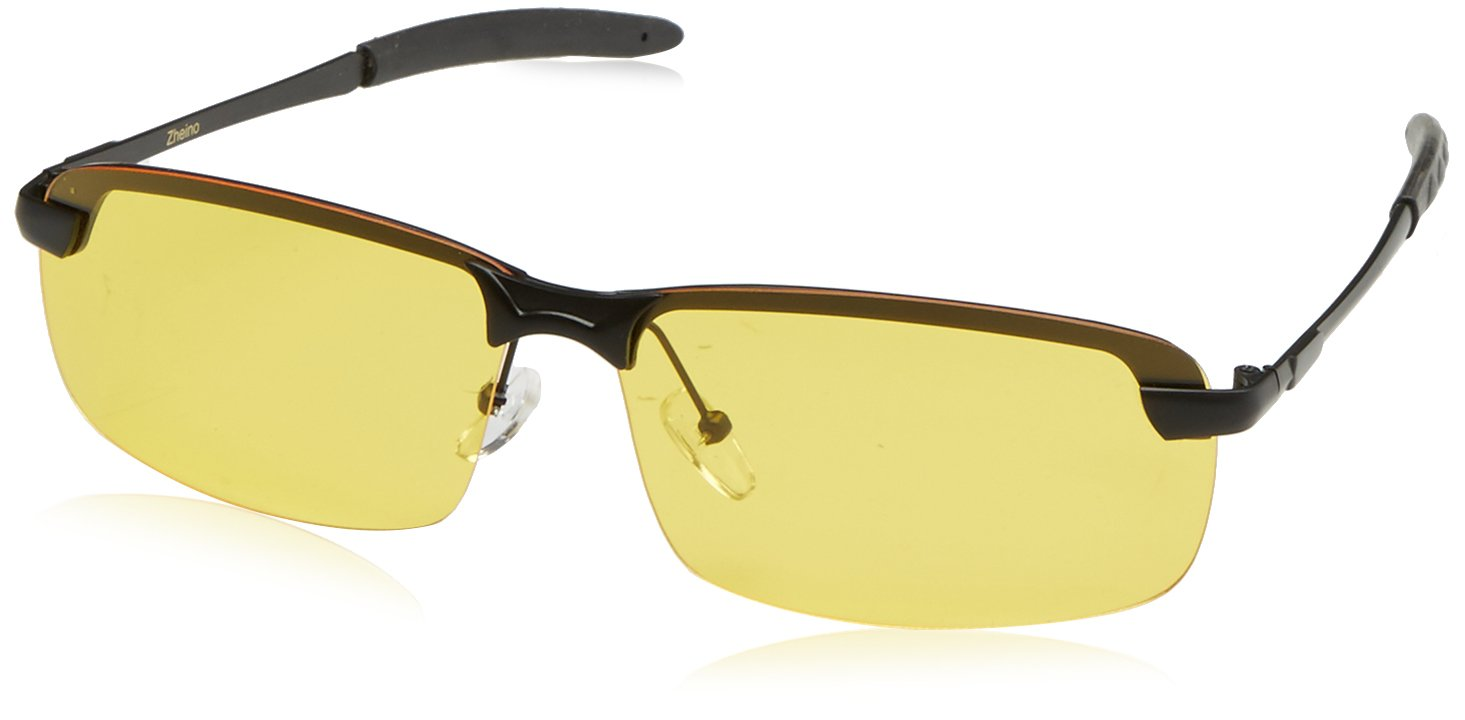 0ce8b7fdd9 Zheino 5909 HD Night Vision Polarised Yellow Sunglasses UV400 Anti-glare  Driving Glasses Cycling Polarised Sunglasses Yellow  Amazon.co.uk  Sports    ...