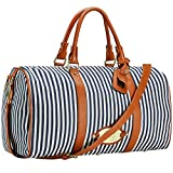 Womens Overnight Bag with Leather Shoulder Strap, LXY Travel Bag for Women Weekender