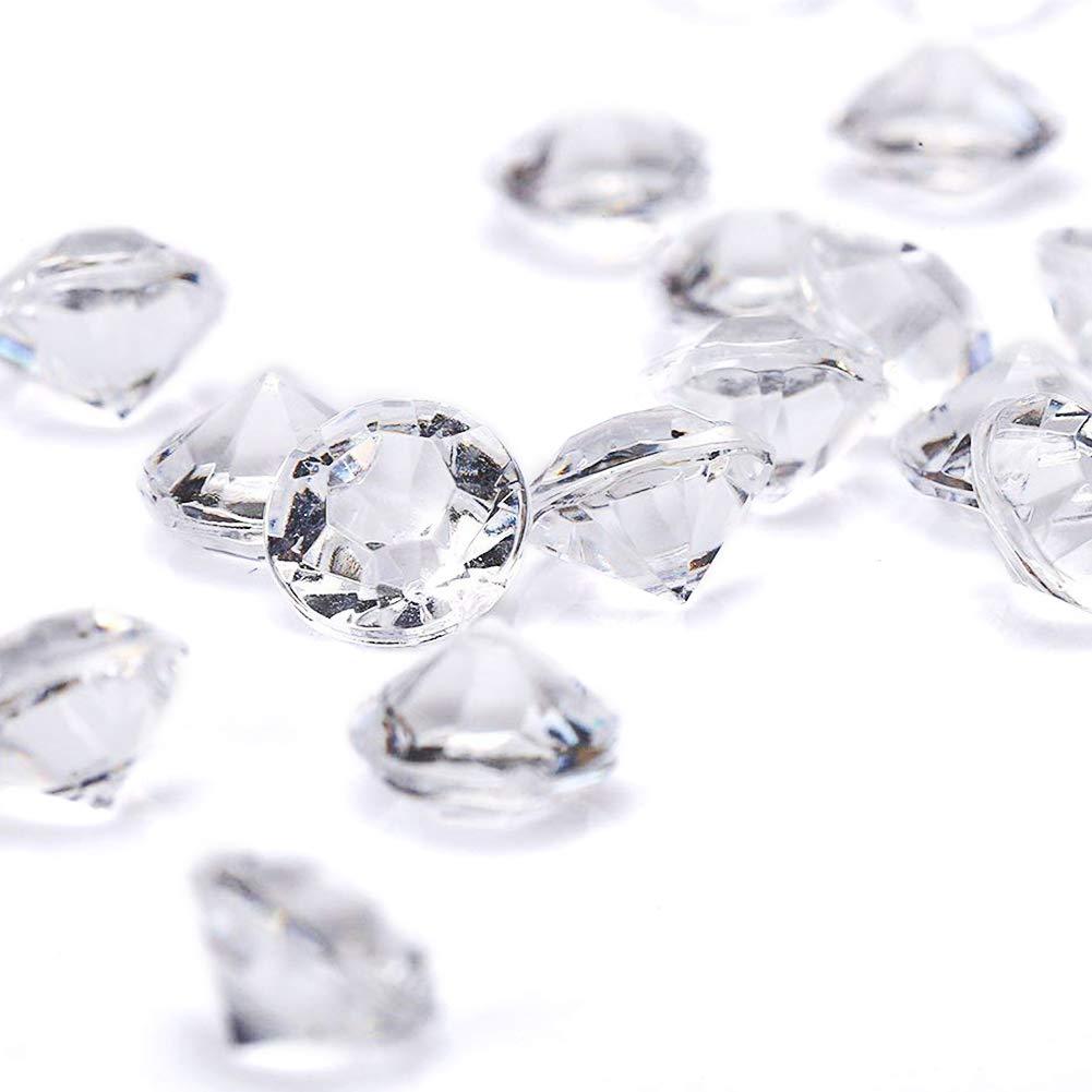800 Acrylic Diamond Table Confetti Wedding Bridal Shower Party Decorations 10mm