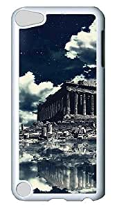 Brian114 Case, iPod Touch 5 Case, iPod Touch 5th Case Cover, Akropolis-Wallpaper Retro Protective Hard PC Back Case for iPod Touch 5 ( white )