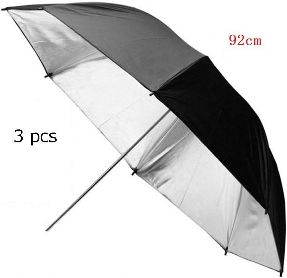 Photography Reflector 36 Inch 92cm Detachable Photography Lighting Umbrella Double Layer Black//Silver Photo Studio Reflector Umbrella,3 Pack Ideal For Photography Activities for Photography Multi-Disc