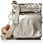 Kipling El Dorado Crossbody Essential Travel Bag, Metallic Pewter