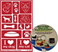 Cat & Dog Glass Etching Stencils, Reusable Paws Pet Series + Free How to Etch CD