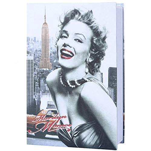 MyLifeUNIT Dictionary Book Safe Box, Portable Travel Safe Box with Combination Lock, 7.1 x 4.53 x 2.17 in (Marilyn Monroe)