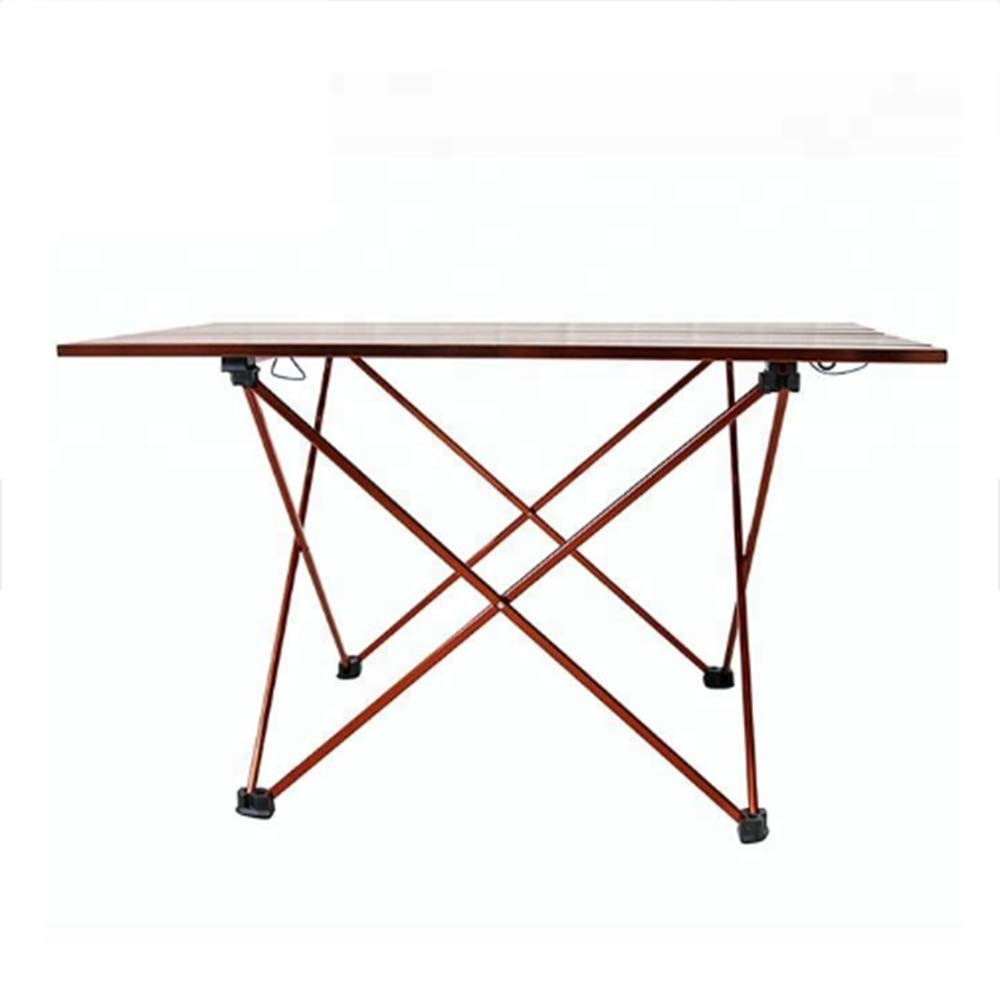Portable Camping Table, Aluminum Table Topanti-Corrosion Rust Prevention Non-Slip Folding Table Picnic Camp Beach Easy Clean,2 by Cxmm (Image #4)