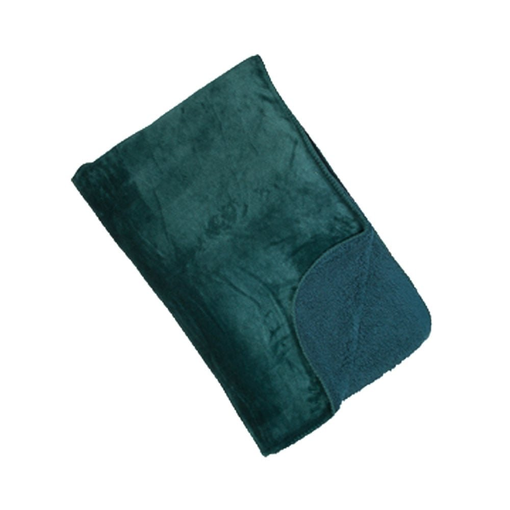 Malini Cosy Soft Touch Deep Fleece Throw Blanket, Teal - 150 x 200cm ...