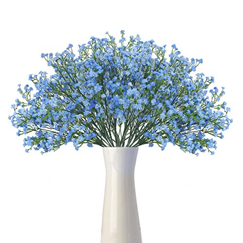 HANTAJANSS Baby Breath Gypsophila Artificial Flowers 12 pcs Bouquets Fake Real Touch Flowers for Wedding Party Decoration DIY Home Decor 21
