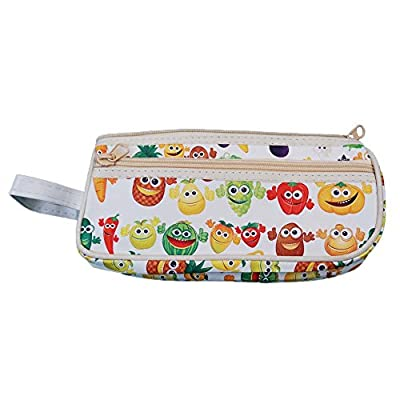 Fruit Vegetable Toiletry Travel Bag Case White2 Zipper Gift - Cosmetics, Jewelry, Accessories, Electronics
