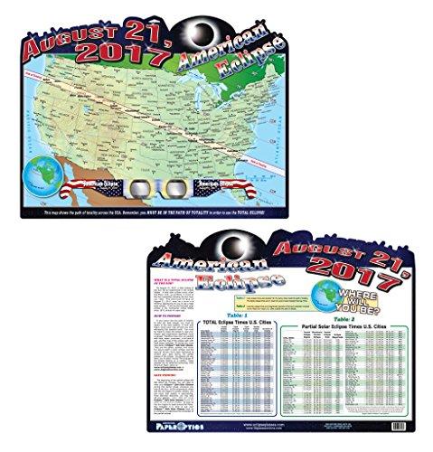 [해외]미국식 이클립스지도 (포스터)/American Eclipse Map (Poster)