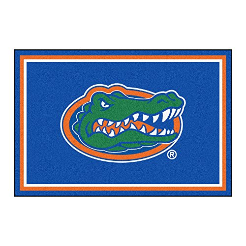 FANMATS NCAA University of Florida Gators Nylon Face 5X8 Plush Rug by Fanmats