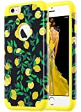 ULAK iPhone 6S Case,iPhone 6 Case, Slim Fit Dual Layer Soft Silicone & Hard Back Cover Bumper Protective Shock-Absorption & Skid-Proof Anti-Scratch Case for Apple iPhone 6 / 6S 4.7 inch, Lemon Drop