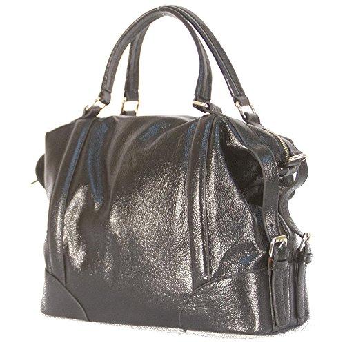 donna-bella-designs-vivian-leather-shoulder-bag-black