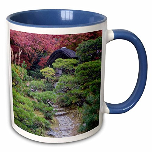 Rob Okochi Sanso Kyoto Japan - 3dRose Danita Delimont - Gardens - Japan, Kyoto, Arashiyama, Okochi Sanso Villa Garden - AS15 RTI0771 - Rob Tilley - 15oz Two-Tone Blue Mug (mug_132750_11)