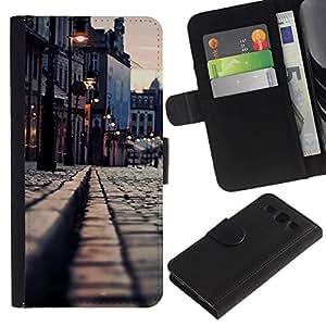 // PHONE CASE GIFT // Moda Estuche Funda de Cuero Billetera Tarjeta de crédito dinero bolsa Cubierta de proteccion Caso Samsung Galaxy S3 III I9300 / Medievil City /