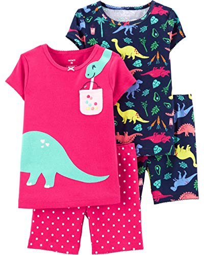 (Carter's 4-Piece Giraffe Snug Fit Cotton PJs (Multicolored/Dinosaur, 24 Months))