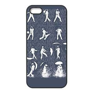 Singin' In The Rain Iphone 4 4S Cell Phone Case Black JNC7C544