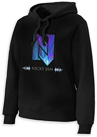 Sunyuer Rapero Nicky Jam Music Tops Casual Sudadera con ...