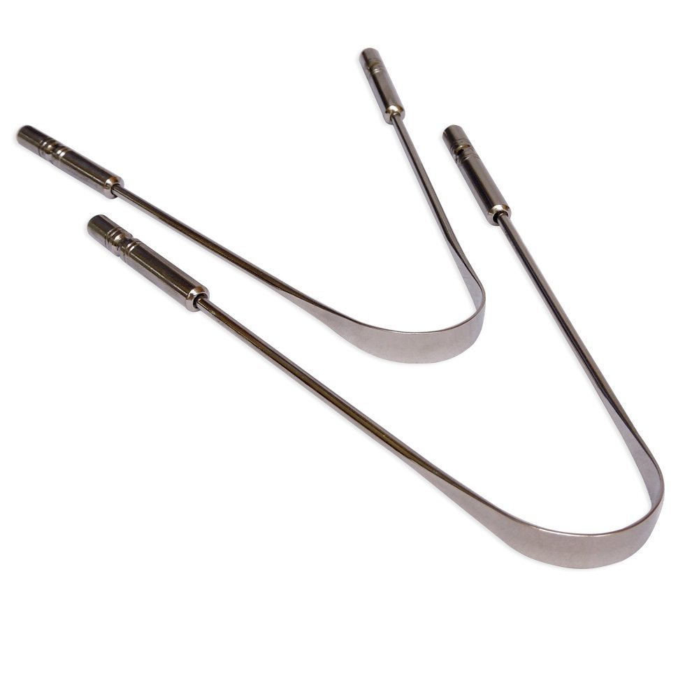 Set of 2 Stainless Steel Tongue Scraper | Stainless Steel Tongue Cleaner GoodsHealthShop