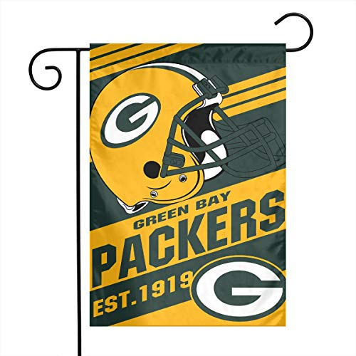 - Dalean Green Bay Packers Double-Sided Printed Garden Flag Weatherproof for Party Yard and Home Outdoor Decor - 12x18 Inches