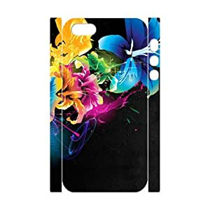 3D Colorful Flowers 8 IPhone 5,5S Case, Young Case Iphone 5s Case Luxury Jackalondon {White}