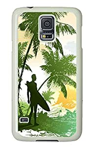 Samsung Note S5 CaseSurfing Art PC Custom Samsung Note S5 Case Cover White