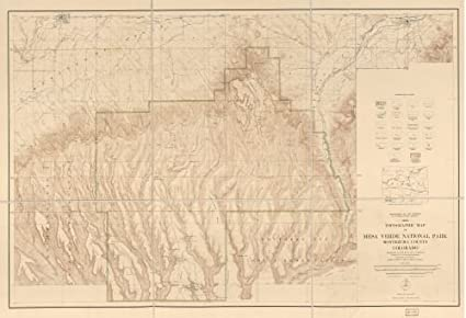 Amazon.com: 1928 Map Topographic map of Mesa Verde National ...