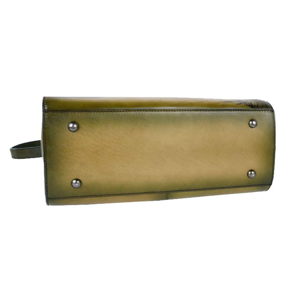 shengweiao Damhandväskor läderväskor väska topphandtag axelväska dam handväska gRÖN